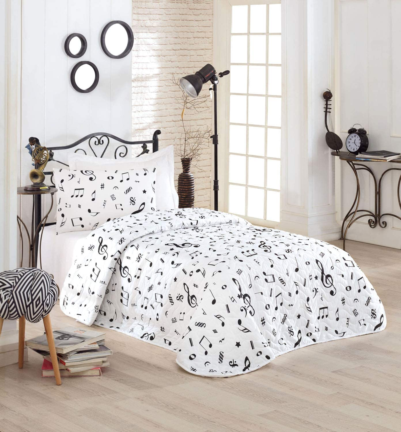 OZINCI Music Bedding Single Twin Coverlet Size M Credence Set Bedspread shopping