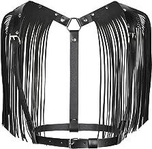 MSemis Women's PU Leather Adjustable Body Chest Harness Belt With Shoulder Tassel