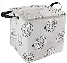 KUNRO Square Toy Bin Waterproof storage organizer for Nursery Hamper Home decor Closet Kids Bedroom Laundry Baby Gift Shel...