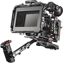 JTZ DP30 Camera Cage with 15mm Rail Rod Base plate Rig&Top Handle+Shouder Pad&Electric Handle Grip+Carbon Fiber Matte Box+Follow Focus+Power Supply(LE Version) for SONY A7III A7RIII A7SIII A9 Camera