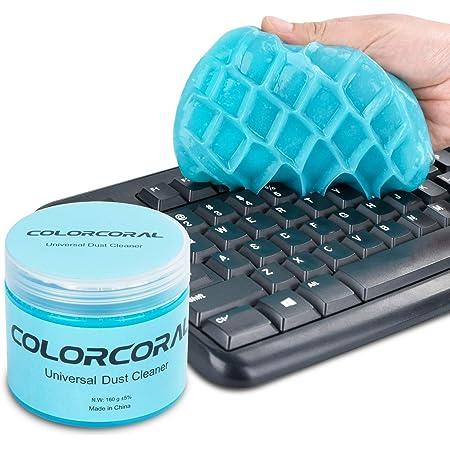 ColorCoral 粘着クリーナー キーボード 掃除 車内設備 隙間 汚れ ホコリ取り スライム クリーナー 強力粘着 繰り返し 多用途 柔らかい 160g 藍