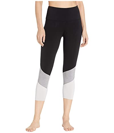 Lorna Jane Crunch Time Core 7/8 Leggings (Black/Grey Marl) Women
