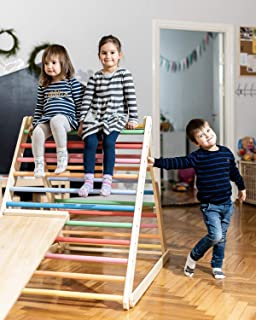 HOMEforDREAMS Pikler Triangle, Step Triangle Without ramp, Climbing Ladder for Toddler, Climbing Triangle for Toddlers