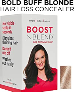 BLONDE Hair Loss Concealer Designed by Women for Women with Hair Loss 22g/0.78oz Covers up Visible Scalp for Women with Visible Thinning Hair BOOSTnBLEND