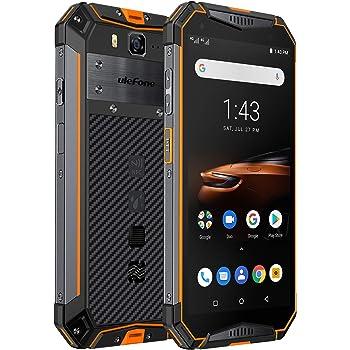 "Ulefone Armor 3W(2019) Rugged Smartphone Unlocked, IP68 Waterproof Cell phone, Android 9.0 10300mAh Big Battery 6GB+64GB, Dual 4G Global Bands 5.7"" FHD+, Compass, GPS+Glonass, NFC, Shockproof (Orange)"