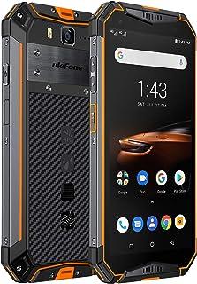 """Ulefone Armor 3W(2019)堅牢なスマートフォンのロック解除、IP68防水携帯電話、Android 9.0 10300mAhビッグバッテリー6GB + 64GB、デュアル4Gグローバルバンド5.7""""FHD +、コンパス、GPS..."""