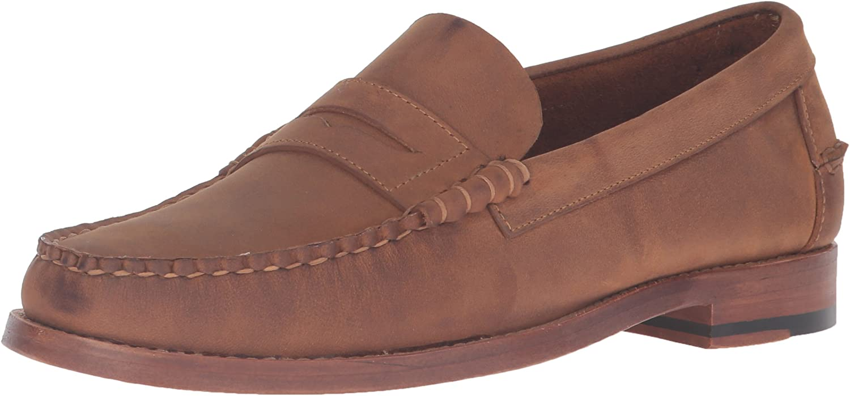 Sebago Men's Legacy Penny Loafer, Tan Oiled Leather, 8 8 D  Geschäft