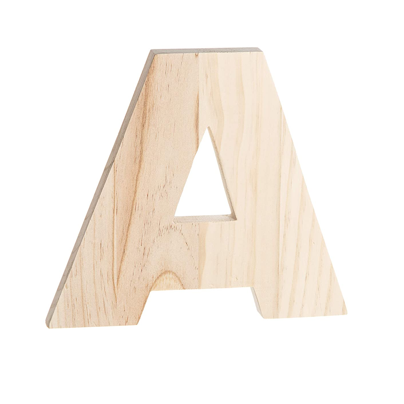 Darice 30048996 Unfinished Wood Letter A: 8 x 8 inches