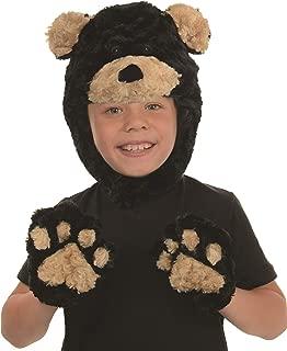 Kid's Children's Animal Pack Dress Up Kit - Black Bear Childrens Costume, Black, One Size