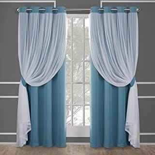 Exclusive Home Curtains Catarina Layered Solid Blackout and Sheer Window Curtain Panel..