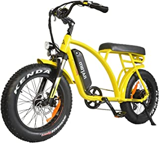 Addmotor MOTAN Electric Bicycles 48V 500W Motor Ebikes for Adults 10.4Ah Lithium Battery 20 Inch Fat Tire Electric Bikes with Throttle Pedal Assist M-60 2018 Fit for Men Women