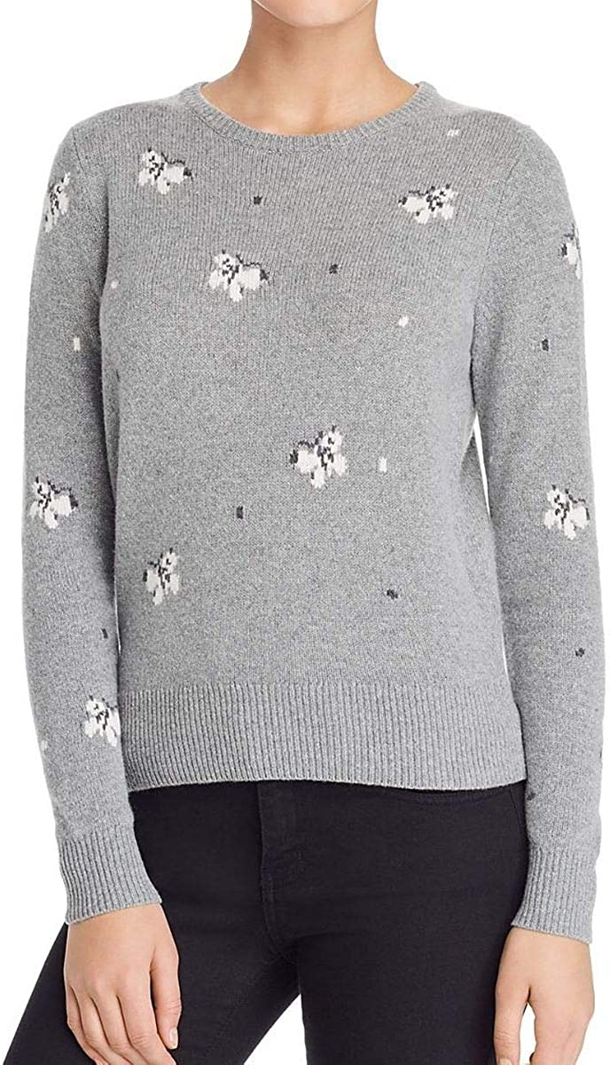 Rebecca Taylor Womens Butterfly Pullover Sweater, Grey, X-Small