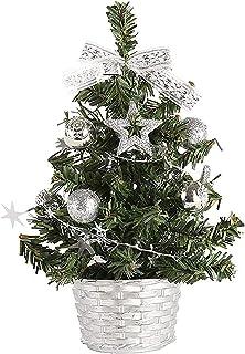 aipipl Ornements de Noël pour la Maison Mini Sapin de Noël en PVC, Petit Sapin de Noël Artificiel pour la décoration Festi...