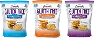 Milton's Gluten Free Baked Crackers, 3 Flavor Variety Bundle. Crispy & Gluten-Free Baked Grain Crackers (Everything, Cheddar, and Multi-Grain, 4.5 oz).