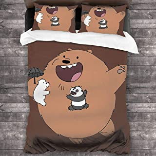 NA We B-are Bears Ice Bear Duvet Cover Bedding Set, 3 Piece Set Bedding Twin Full Queen King Bed(Duvet Cover + 2 Pillowcases)