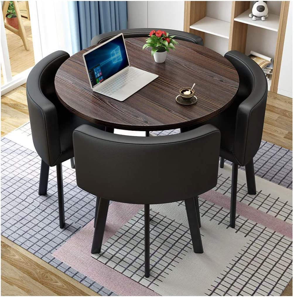 Amazon Com Reception Table And Chair Combination Negotiation Table Sales Office Shops Meetings Small Round Tables Office Conference Tables Leisure Tables And Chairs Hotel Lounges Balcony Western Restaurant Office Products
