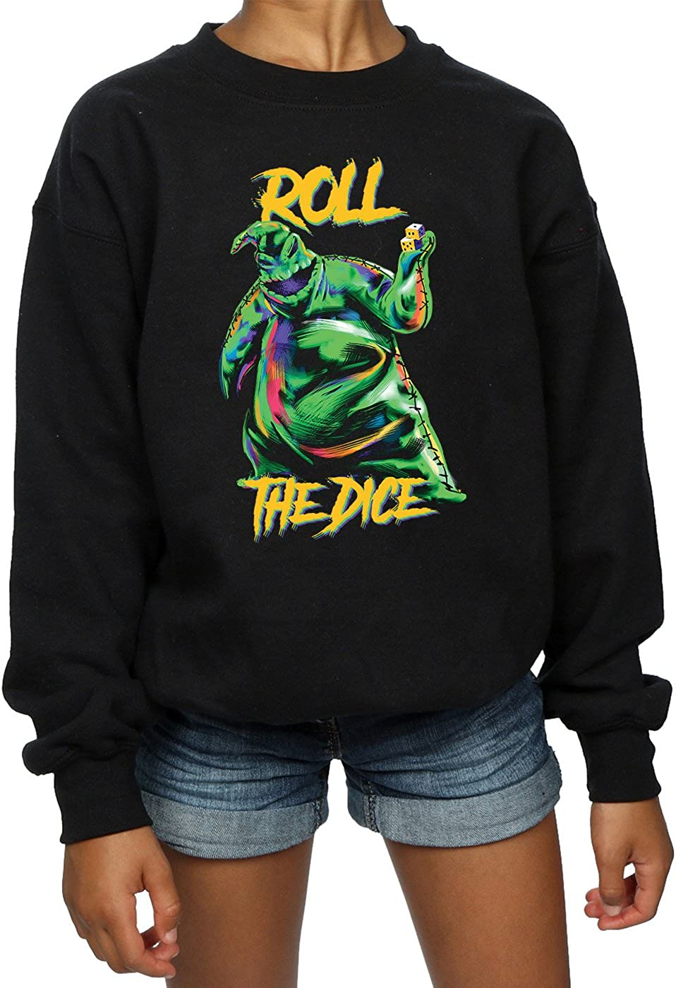 Disney Girls Nightmare Before Christmas Oogie Boogie Dice Sweatshirt