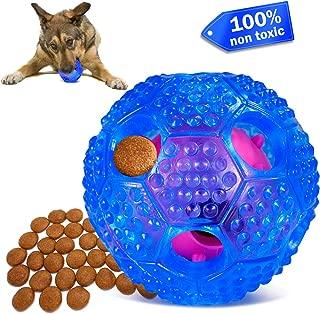 FULNEW Dog Treat Ball Interactive Dog Treat Dispenser Toy Ball IQ Training Ball Durable Dog Chew Toy Ball for Small Medium Dogs