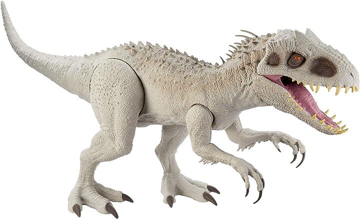 Dinosauro indominus rex super colossale giocattolo per bambini 4+anni, gph95 jurassic world