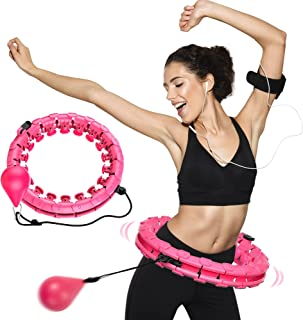 HulaLife Smart Weighted Hula Hoop with Ball, 24 Knots - UK Stock | Adult & Child Fitness Hula Hoop for Fat Burning Weight Loss, Exercise & Massage | Soft, Padded, Waist Toning