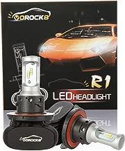 R1 CSP Seoul H13 9008 8000LM LED Headlight Conversion Kit, Hi/Lo beam headlamp, Dual Beam Head Light, Halogen Head light Replacement, Fanless design, 6500K Xenon White, 1 Pair- 1 Year Warranty