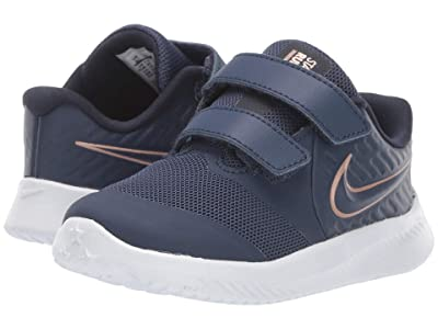 Nike Kids Star Runner 2 (Infant/Toddler) (Midnight Navy/Metallic Red Bronze) Kids Shoes