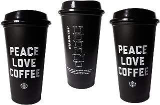 Best starbucks black cup peace love coffee Reviews