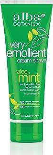 Alba Botanica, Moisturizing Cream Shave, Aloe Mint, 8 oz