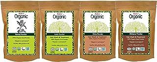 (Combo Pack) Radico 100% Organic Henna + Amla + Ritha + Shikakai Powder - 100 gm