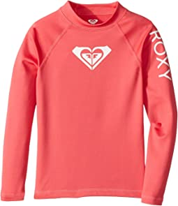 Roxy Kids - Whole Hearted Long Sleeve Rashguard (Toddler/Little Kids/Big Kids)