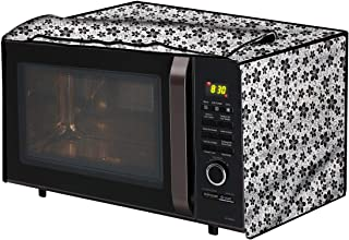 The Furnishing Tree Microwave Oven Cover for LG 28 L Convection MC2886BRUM Floral Pattern Grey
