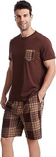 Ueither Mens Short Pyjamas Loungewear Set Short Sleeve Top & Shorts