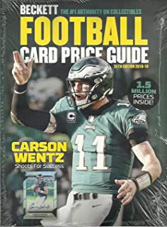 2018 Beckett Football Card Annual Price Guide #35 (9/18 release, C. Wentz cover)