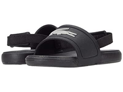 Lacoste Kids L.30 Slide 0120 1 CUI (Toddler) (Black/Silver) Kid