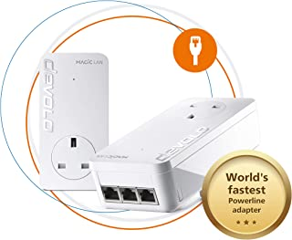 Devolo Magic 2-2400 LAN Triple Starter Kit: Stable Home Working, Powerline Kit, Up to 2400 Mbps for Your Powerline Home Ne...
