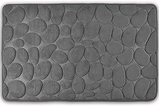 WohnDirect Tapis de Bain Gris • antiderapant, Lavable • Tapis de Douche Moderne en..