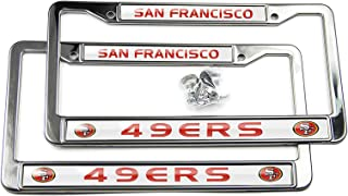 NFL Bling Chrome License Plate Frame -2 PCS