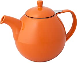 FORLIFE Curve Teapot with Infuser, 45-Ounce, Carrot