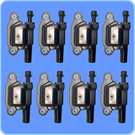 New AD Auto Parts High Performance Ignition Coil Set of 8 For Buick Cadillac Chevrolet GMC