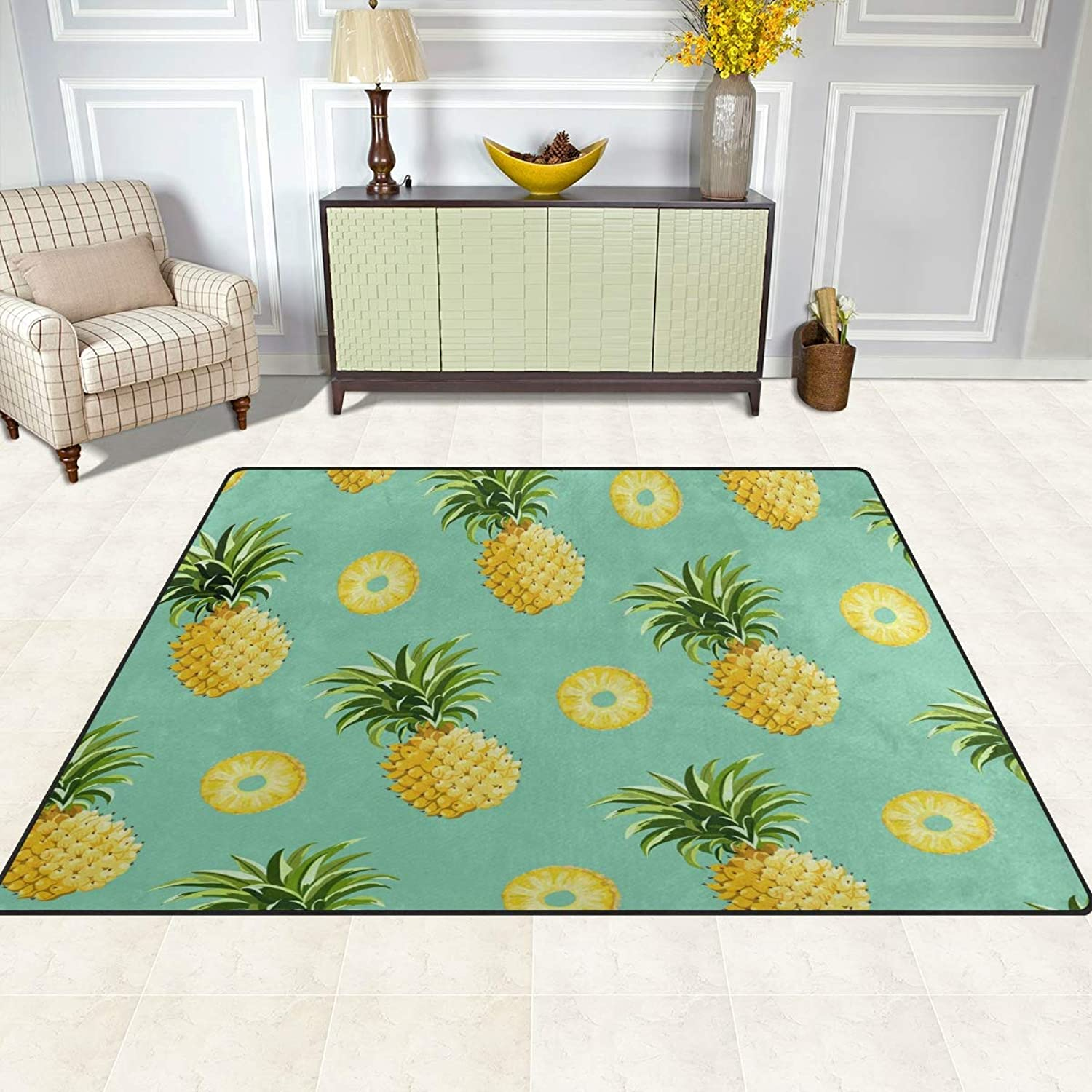 FAJRO Pineapple Painting Rugs for entryway Doormat Area Rug Multipattern Door Mat shoes Scraper Home Dec Anti-Slip Indoor Outdoor