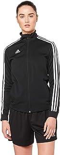 adidas Australia Women's Tiro 19 Training Jacket, Black/Black/White