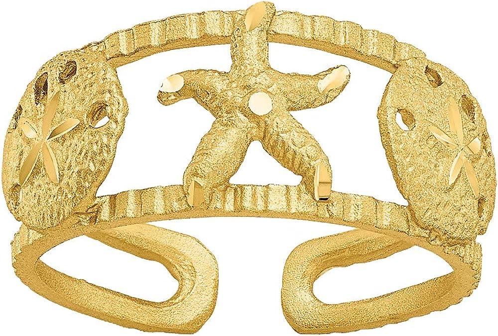 Nina's Jewelry Box 14k Yellow Gold Starfish Toe Ring