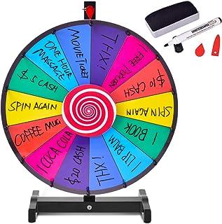 comprar comparacion COSTWAY Ruleta de Juego con Soporte Puede Escribir y Limpiar con Pluma Borrable para Fiesta Juguete (18 Pulgadas)