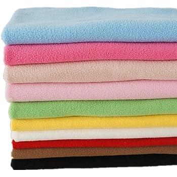 stoffkontor pastel green polar fleece fabric anti pill