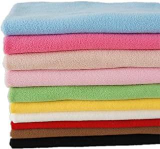 RayLineDo 10PCS 5050cm Solid Color Knitted Polar Fleece Fabric Anti Pill Fabric Patchwork Polyester Plush Fleece Cloth For...