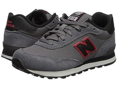 New Balance Kids 515 (Little Kid/Big Kid) (Castlerock/Velocity Red) Boys Shoes