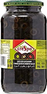 Crespo Sliced Black Olives, 460 gm
