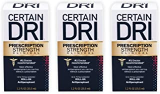 Certain Dri Prescription Strength Clinical Antiperspirant | Doctor Recommended Hyperhidrosis Treatment | 72 Hour Protectio...