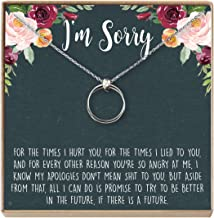 Dear Ava Apology Gift Necklace for Her: Gift to Say You're Sorry Best Friend, Girlfriend, Jewelry, 2 Linked Circles