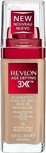 Revlon Age Defying 3X Foundation, Natural Beige, 30ml